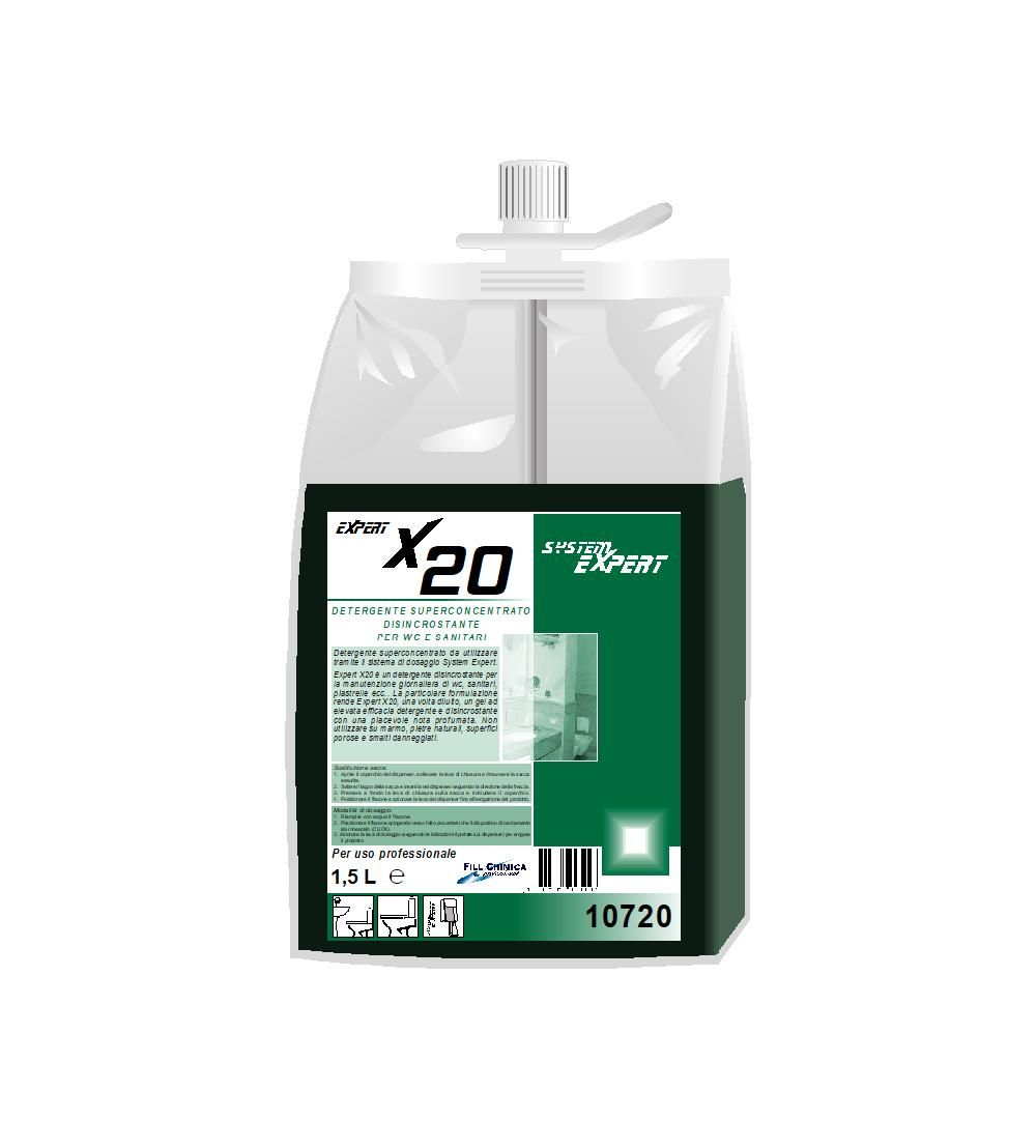 Expert X20 - detergente disincrostante in gel per wc ml 1500