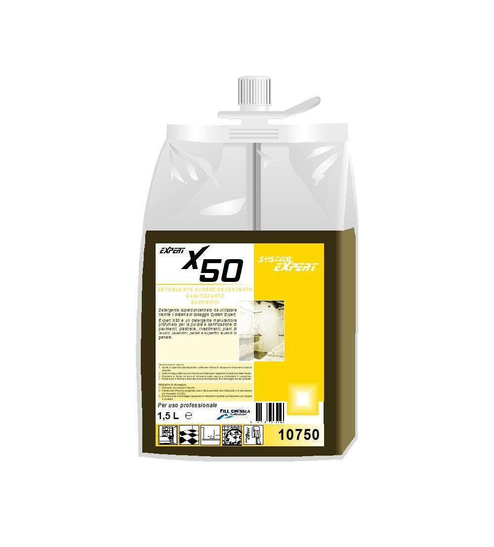 Expert X50 - detergente sanitizzante superfici ml 1500