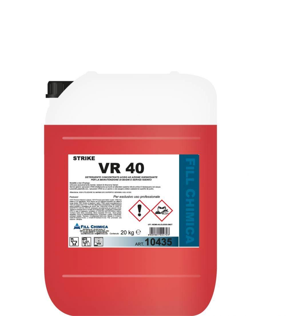 VR 40-detergente disincrostante bagno kg 20