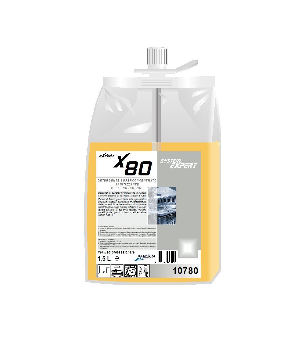 Expert X80 - sanitizzante multiuso inodore ml 1500
