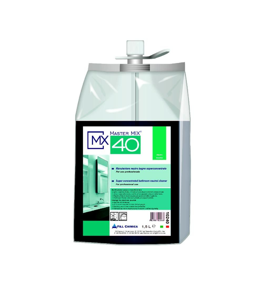 Master Mix MX 40 - det. igienizzante neutro bagno ml 1500