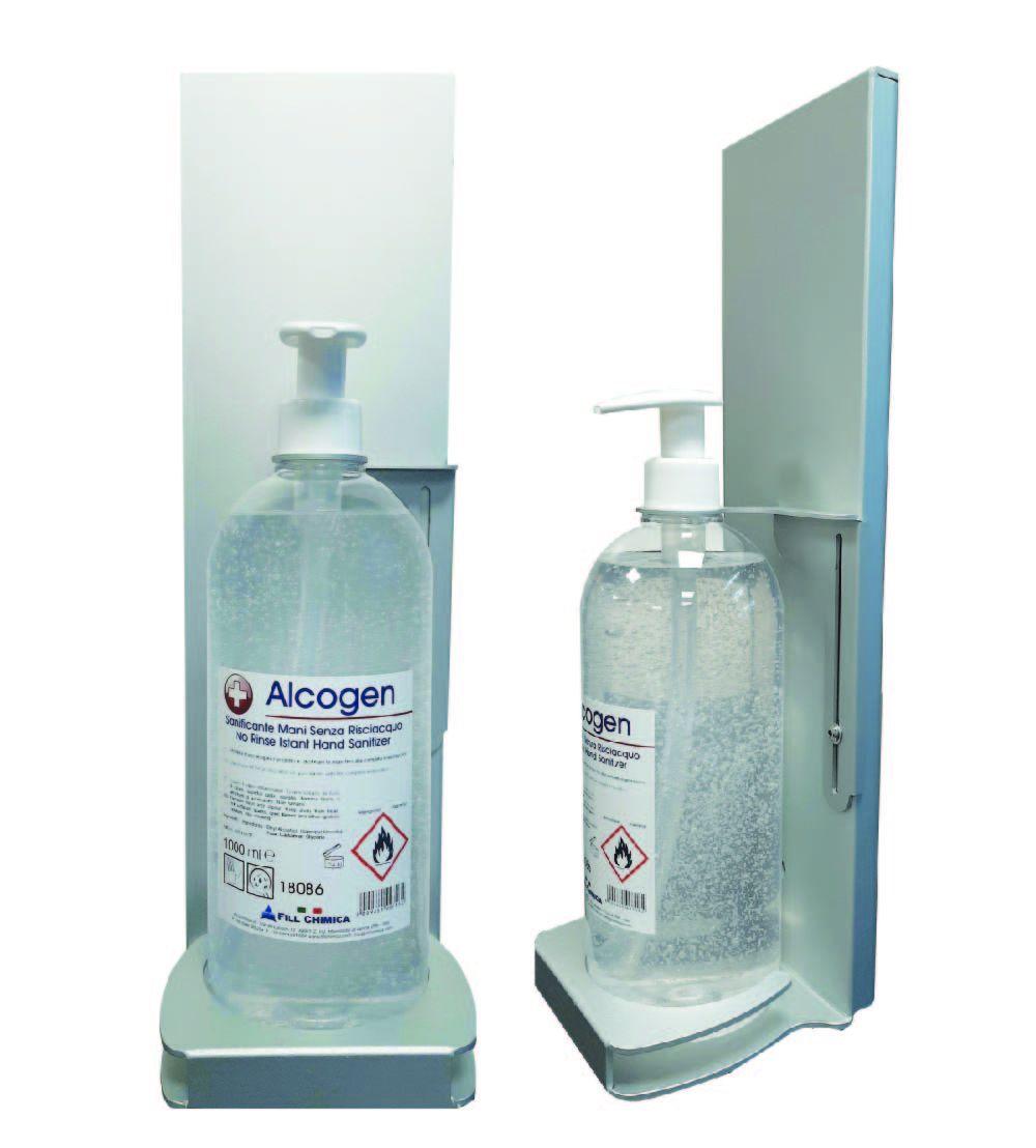 Alcogen portaflacone da parete con antifurto