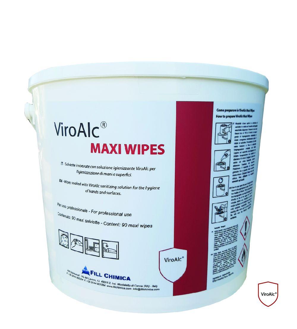 Secchiello Dispenser ViroAlc Maxi Wipes